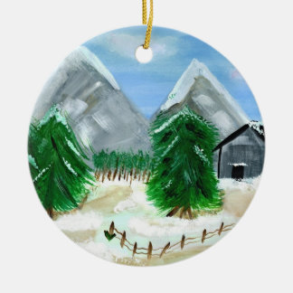 Winter Landscape Ornament
