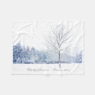 Winter Landscape Photo Fleece Blanket