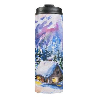 Winter landscape thermal tumbler