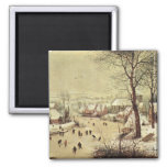 Winter Landscape with a Bird Trap - 1565