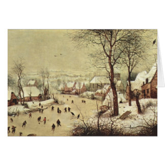 Winter Landscape with a Bird Trap - 1565 Note Card