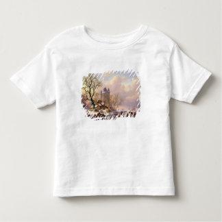 Winter Landscape with a Castle Toddler T-Shirt