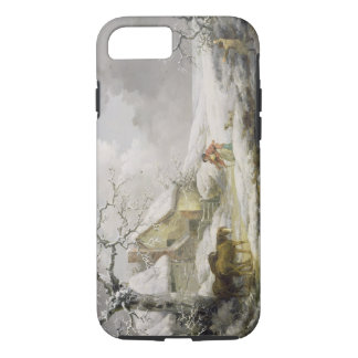 Winter Landscape with Men Snowballing an Old Woman iPhone 8/7 Case