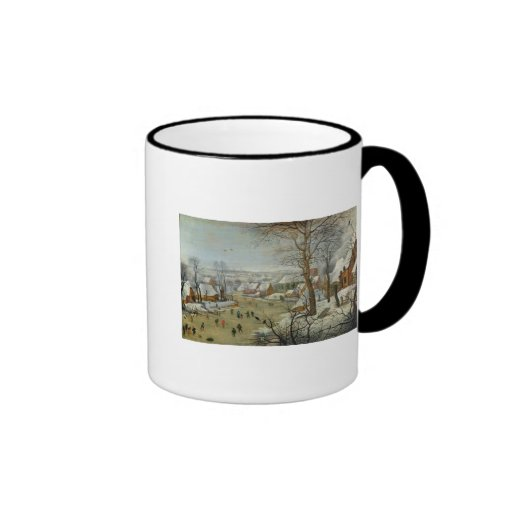 Winter Landscape with Skaters and a Bird Trap Coffee Mugs