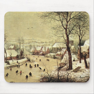 Winter landscape with skaters by Pieter Bruegel Mouse Mat