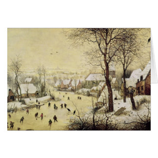 Winter Landscape with Skaters Card