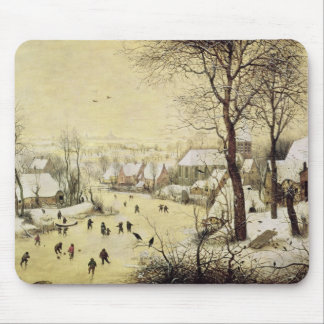Winter Landscape with Skaters Mouse Mat