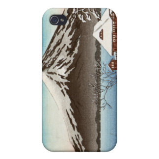Winter landscape with view of Mount Fuji iPhone 4 Cases