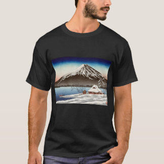 Winter landscape with view of Mount Fuji T-Shirt