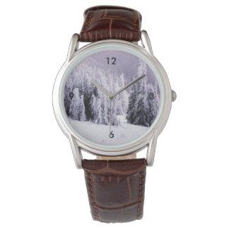 Winter landscape wristwatch
