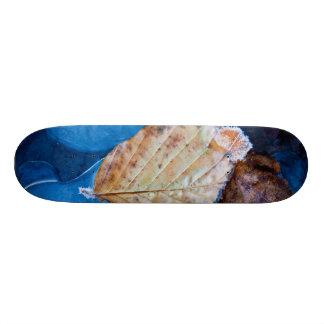 Winter leaf skateboard deck