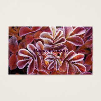 Winter Leaves, Happy birthday Business Card