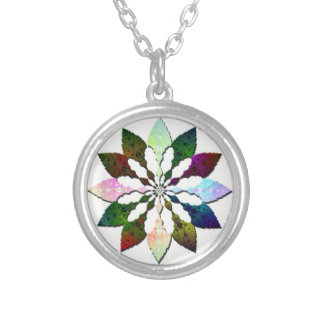 Winter Leaves Silver Plated Necklace