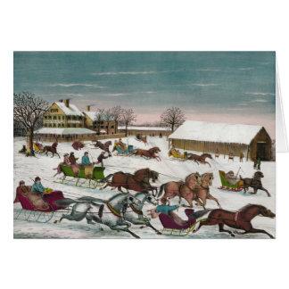 Winter Leaving Brighton Hotel Card