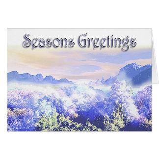 Winter Legends Greetings Card