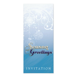 Winter Light Sparkle Holiday Party Invitation