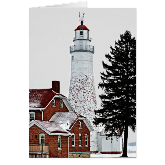 Winter Lighthouse Card