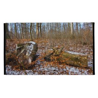 Winter logs folio iPad folio cases