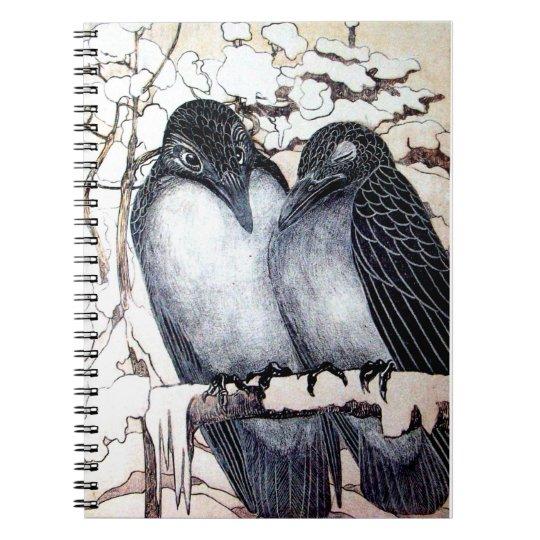WINTER LOVE BIRDS SPIRAL NOTEBOOK