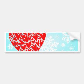 Winter Love Bumper Sticker