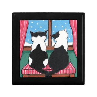 Winter Love | Cat Art Trinket Gift Box