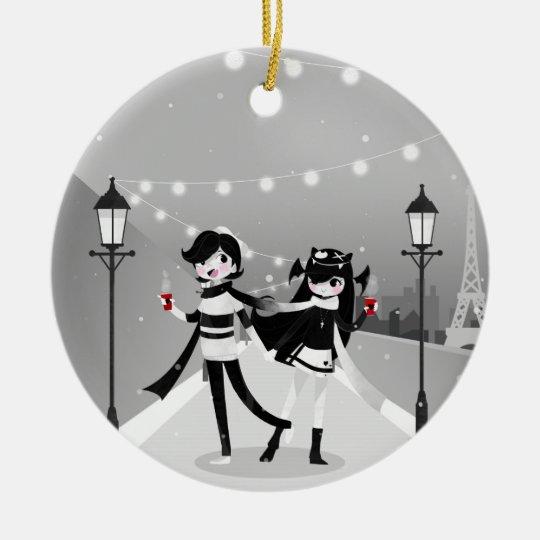Winter Love Christmas Ornament