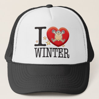 Winter Love Man Trucker Hat