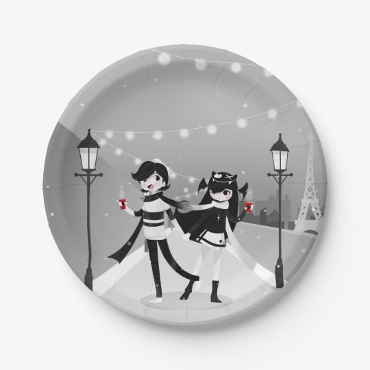 Winter Love Paper Plate