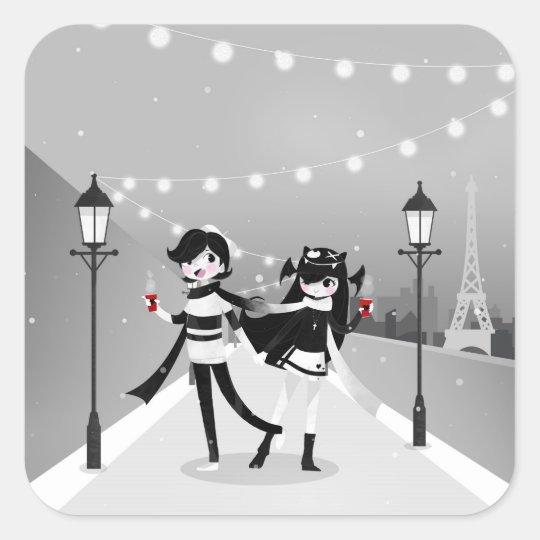 Winter Love Square Sticker