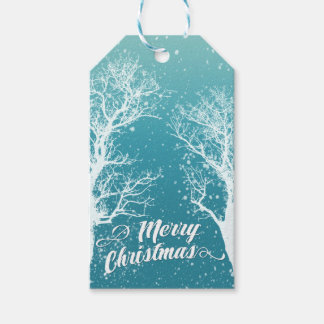 Winter Merry Christmas Holiday Gift Tags