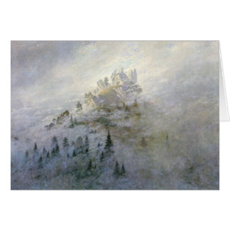 Winter Mist on the Mountains 1808 Greeting Card