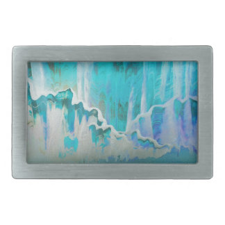 Winter mist surrounds the Mountains Rectangular Belt Buckle