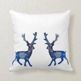 Winter Mood Reindeer  Mandala Snow Pillow