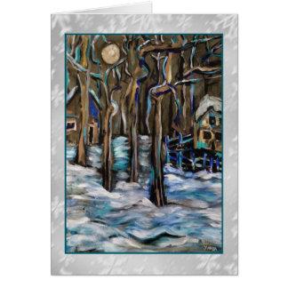 Winter Moon Art Card