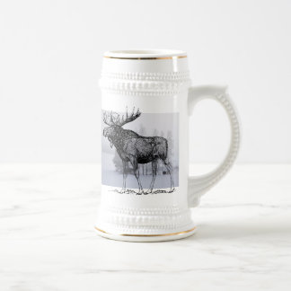 Winter Moose Beer Stein