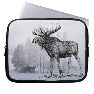 Winter Moose Laptop Sleeves