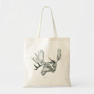 Winter Moose Tote Budget Tote Bag