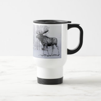 Winter Moose Travel Mug