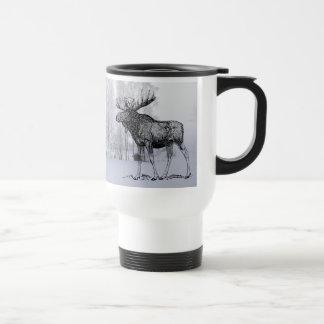 Winter Moose Travel Mug