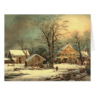 Winter Morning 1863 Large Greeting Card