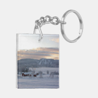 Winter Morning 1 Square Acrylic Key Chains