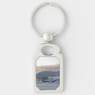 Winter Morning 1 Keychain