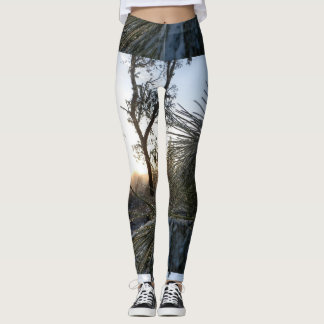 Winter Morning Pines and Frost Leggings
