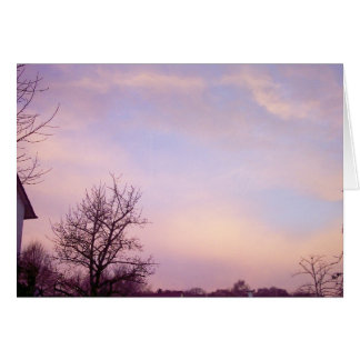 Winter Morning Sky 1 Greeting Card