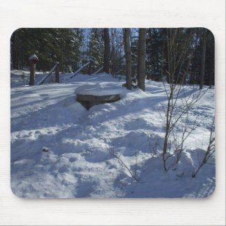 Winter Morning Snow Scene Mouse Pad