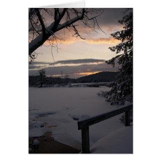 Winter Morning Sunrise Photography Card