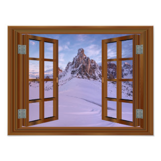 Winter Mountain Monument Valley USA Photo Art
