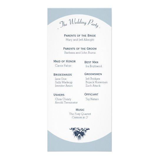 Winter Mountain Pines Wedding Program Light Rack Card