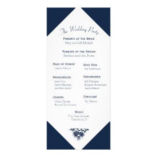 Winter Mountain Pines Wedding Program Rack Card