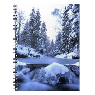 Winter mountain river- Beskid Mountains, Poland Notebook